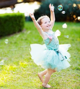 bubbles and a tutu